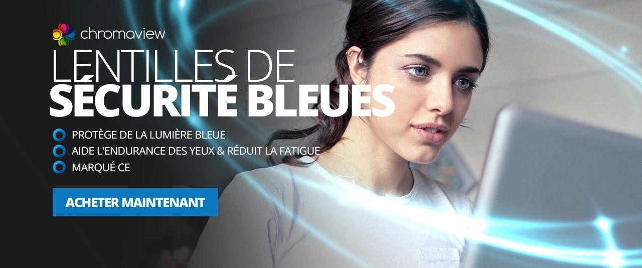 Lentilles de Sécurité Bleues